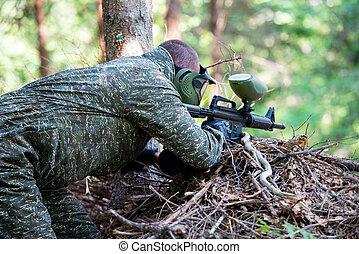 狙撃兵, 狙いを定める, 銃