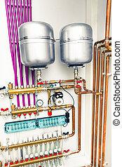 独立した, 加熱, boiler-room, システム