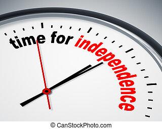 独立, 時間