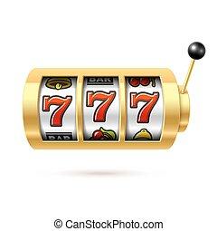 狭缝, jackpot, 机器, 幸运, sevens
