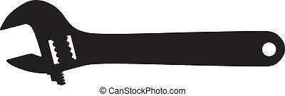 猛扭, 矢量, outline, 黑色半面畫像