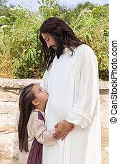 献身的, 女の子, イエス・キリスト