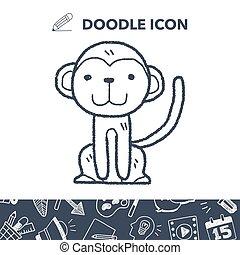 猴子, 心不在焉地亂寫亂畫