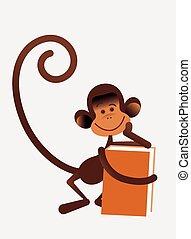 猴子, 由于, 書