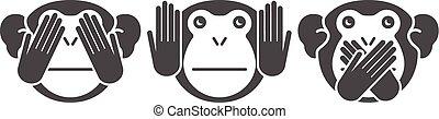 猴子, 矢量, 背景