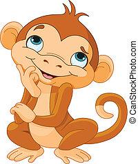 猴子, 認為