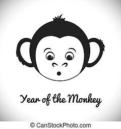 猿の年, デザイン