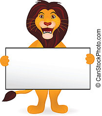 獅子, 卡通, 以及, 空白徵候