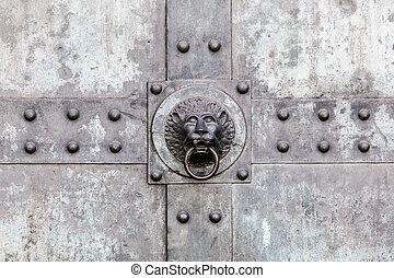 獅子, 門門環
