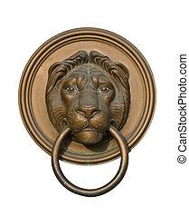 獅子, 門門環, 被隔离, 在懷特上
