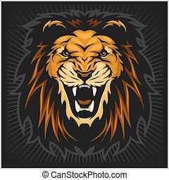 獅子, 頭, 插圖