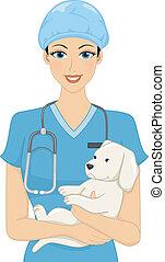獣医, 女性