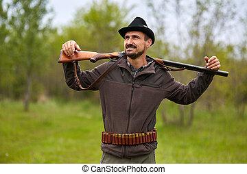 獵槍, 獵人, 森林