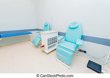 獻血者, 房間, 在醫院