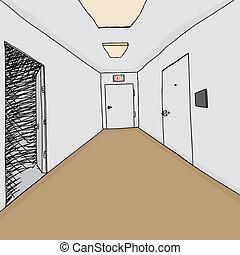 玄関, 戸オープン