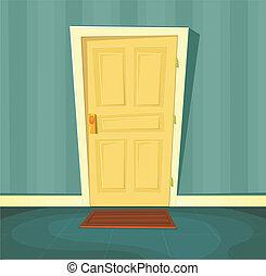 玄関, 漫画
