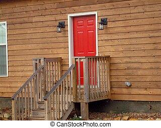 玄関, 赤