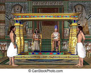 王位, 部屋, エジプト人