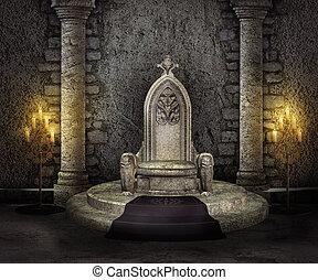 王位, 部屋, 背景, 宮殿