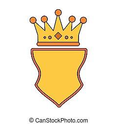 王冠, シンボル, バッジ, 紋章