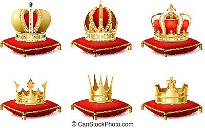 王冠, セット, heraldic