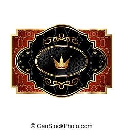 王冠, パッキング, 皇族, アルコール, ラベル