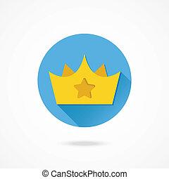 王冠, ベクトル, 星, 金, 印