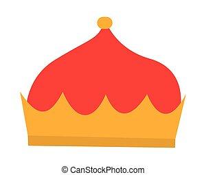 王冠, ベクトル, 皇族, 隔離された, デザイン