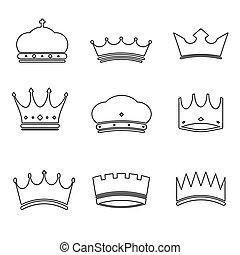 王冠, 基本, デザイン, アイコン