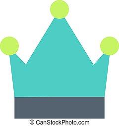 王冠, 平ら, アイコン