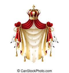 王冠, 皇族, 毛皮, baldachin, フリンジ