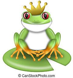 王冠, 紅色看的樹青蛙, 綠色, 王子