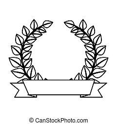 王冠, 花輪, 紋章, leafs