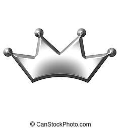 王冠, 銀, 3d