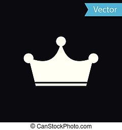 王冠, 隔離された, イラスト, バックグラウンド。, ベクトル, 黒, 白, アイコン