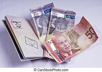 王国, カナダ, ドル, 山, パスポート,  openunited