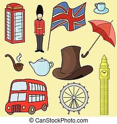 王国, シンボル, 偉人, 合併した, 英国