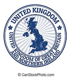 王国, 切手, 合併した
