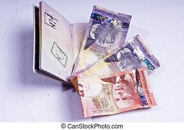 王国, 合併した, カナダ, ドル, 山, パスポート, 開いた