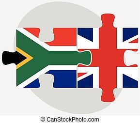 王国, 合併した, 困惑, アフリカ, 旗, 南