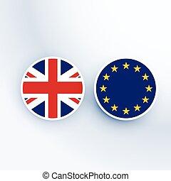 王国, 合併した, 組合, シンボル, バッジ, ヨーロッパ