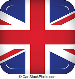 王国, 旗, ベクトル, 合併した
