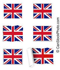 王国, 旗, 合併した, セット