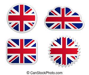 王国, 旗, 合併した, ラベル