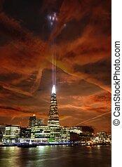 王国, 联合起来, 碎片, 腺, 夜晚, 伦敦, 风景, 察看