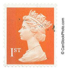 王国, 郵送料, 1993, 合併した, エリザベス, 2005:, 切手, 2005, 提示, 女王, -, 使われた, 英語, 肖像画, ∥ころ∥, クラス, 第2, 最初に