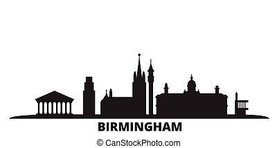 王国, 都市, 隔離された, 合併した, 旅行, 黒, スカイライン, illustration., 都市の景観, ...