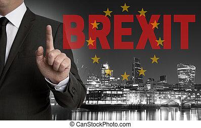 王国, brexit, 合併した, 組合, 会員, スカイライン, 概念, ロンドン, ビジネスマン, ヨーロッパ