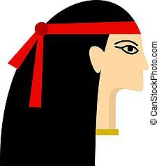 王女, エジプト人, 隔離された, アイコン