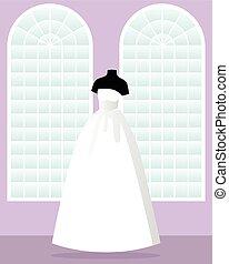 王女, 大広間, 服, マネキン, 結婚式